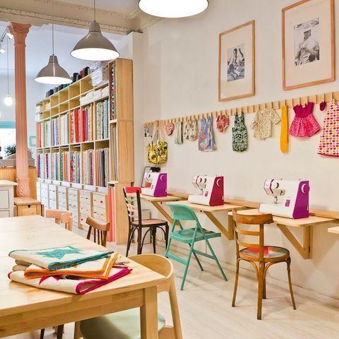 Taller y máquinas de coser