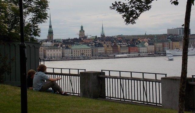 Vistas desde la calle Fjällgatan.