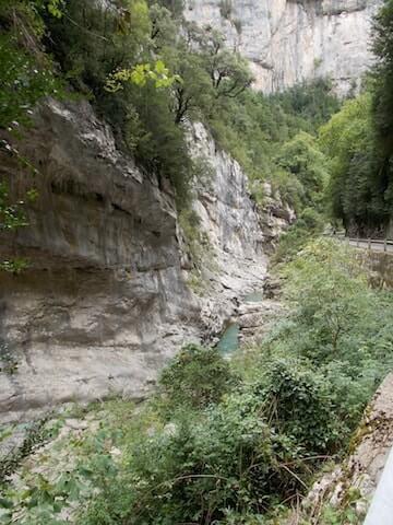 El Cañón de Añislco en coche