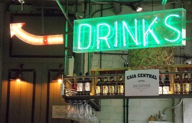 Bar de la planta baja del Mercado de San Ildefonso
