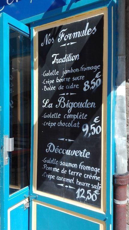 Formulas para comer en Bretaña