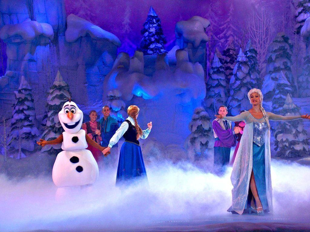 Momento del espectáculo Frozen Sing Along