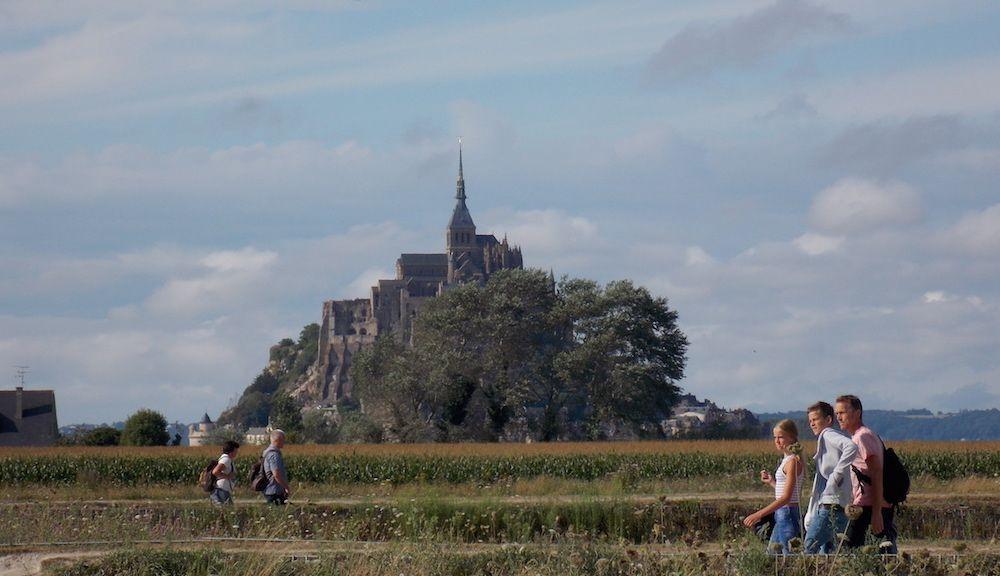 Mont Saint Michel y las mareas en Bretaña