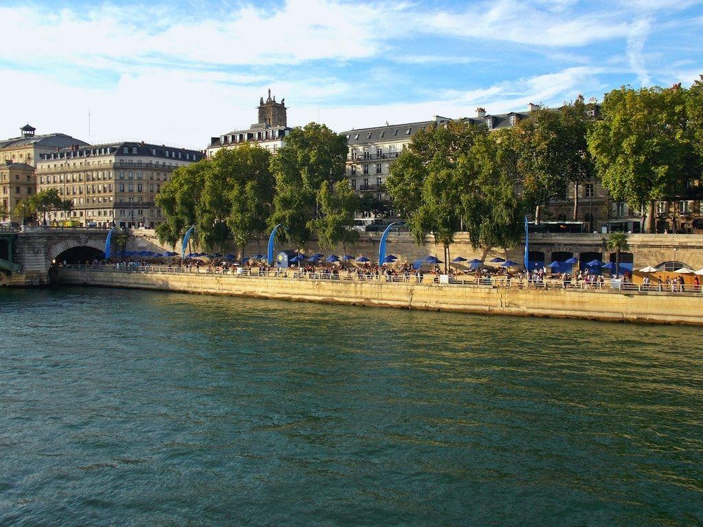 Vistas del Sena desde sus playas