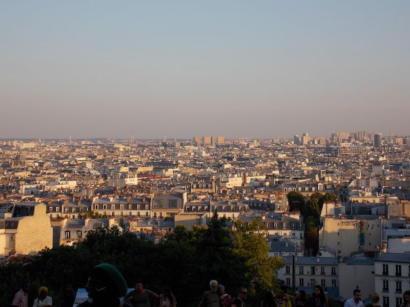 Vistas de París desde Sagrado Corazón