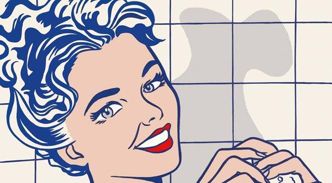 Mujer en el baño de Roy Lichtenstein