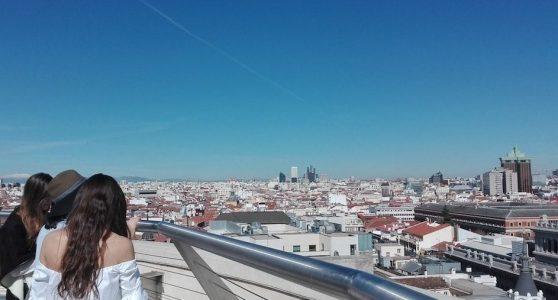 Vistas de Madrid desde la terraza del Bellas Artes