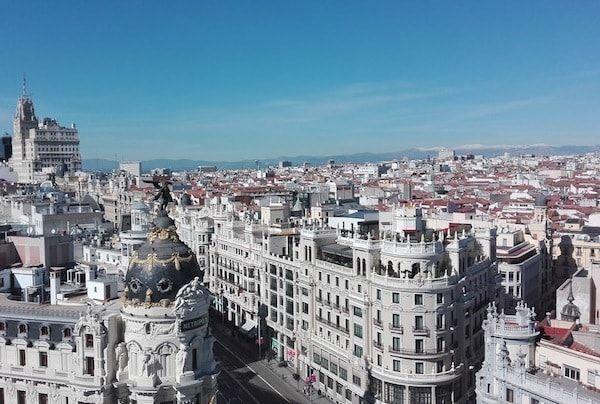 Vistas de Madrid en la azotea de Bellas Artes