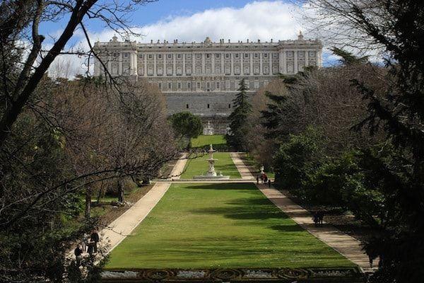 Jardines de Madrid en el Palacio de Oriente