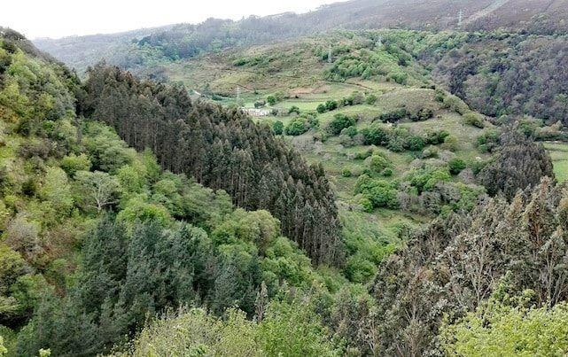 Paisaje alrededor de la cueva del Rei Cintolo en Mondoñedo