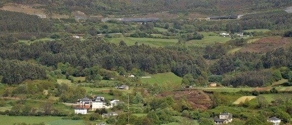 Vistas del valle en una ruta por Mondoñedo
