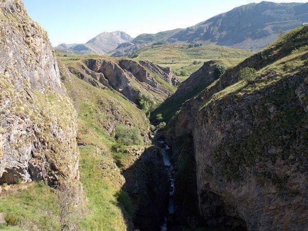 La garganta del río Sil en las Palomas Babia