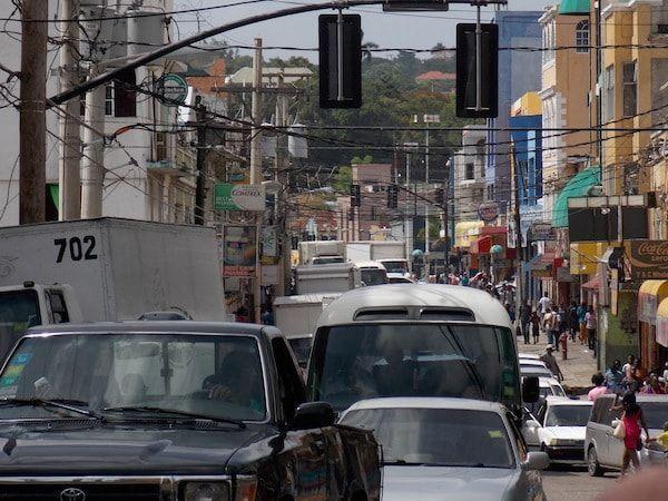 Hora punta en MoBay Jamaica