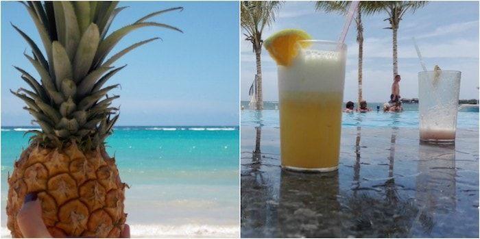 Zumos en un resort en Jamaica