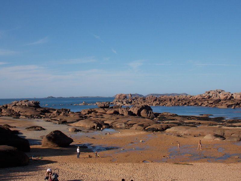 playas de Bretaña en la costa d´armor