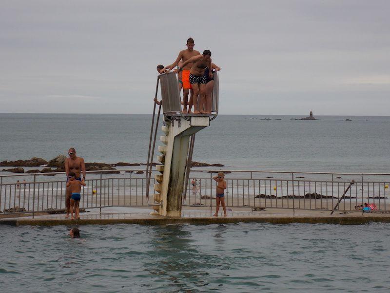 diversión en la costa de Bretaña