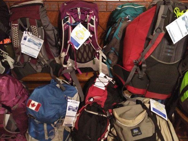 Traslado de mochilas