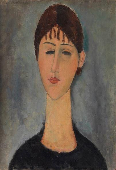oung Woman, de Amedeo Modigliani en la Galería nacional de Oslo