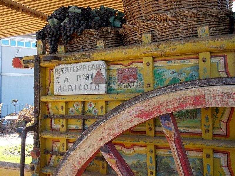 carro con uvas