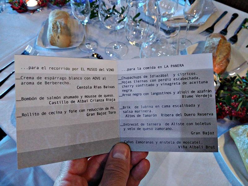 carta de comida La Panera