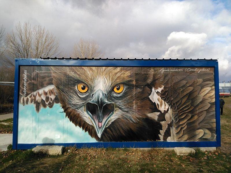 Mural águila culebrera
