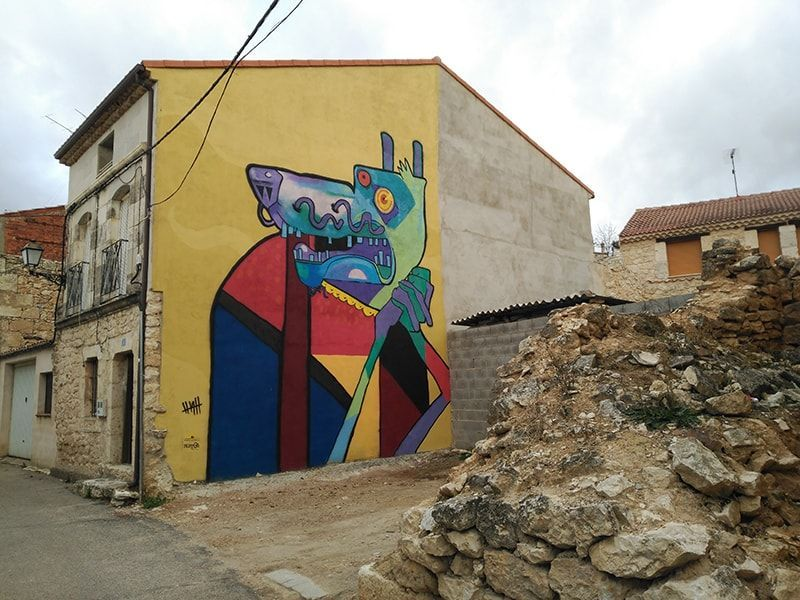 Mural lobo
