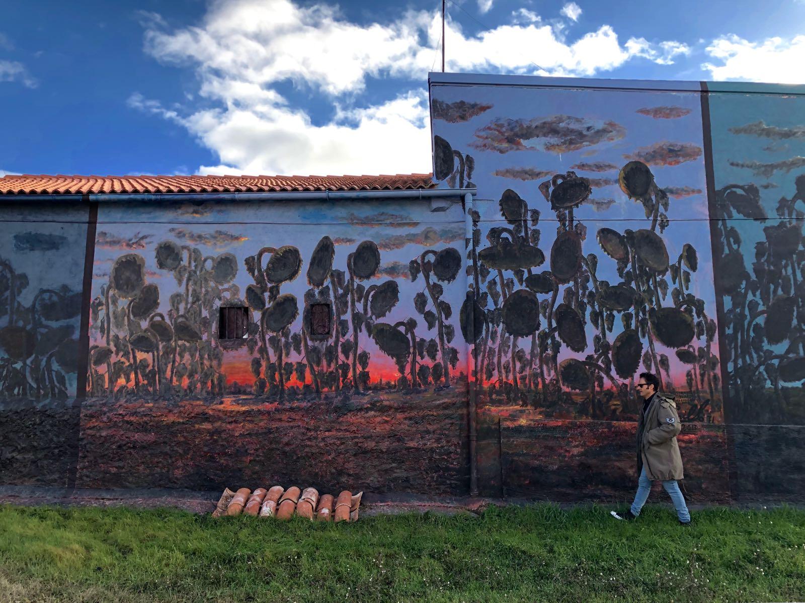 Mural girasoles turraos