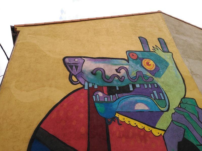 detalle mural lobo