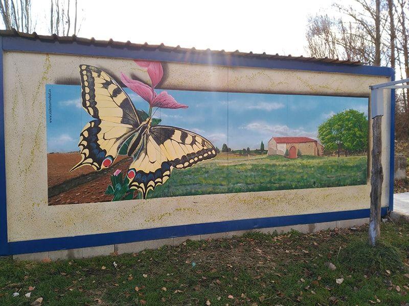 Mural mariposa