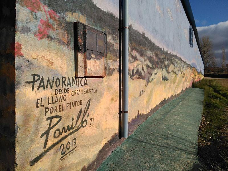 El mural más largo de Castilla y Léon