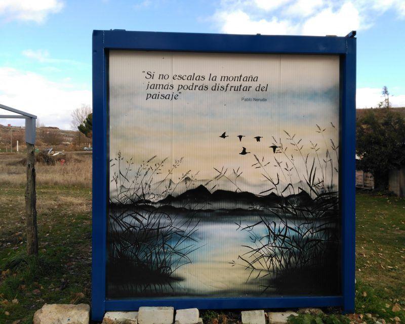 Mural cita Pablo Neruda