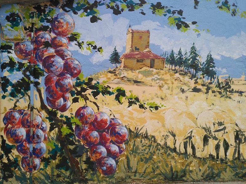 mural uvas ribera