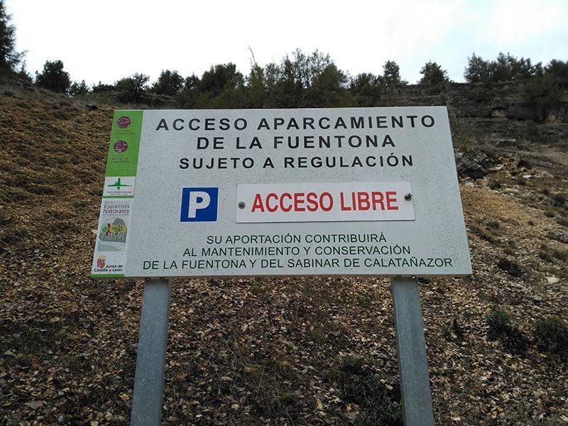 Acceso libre al parking