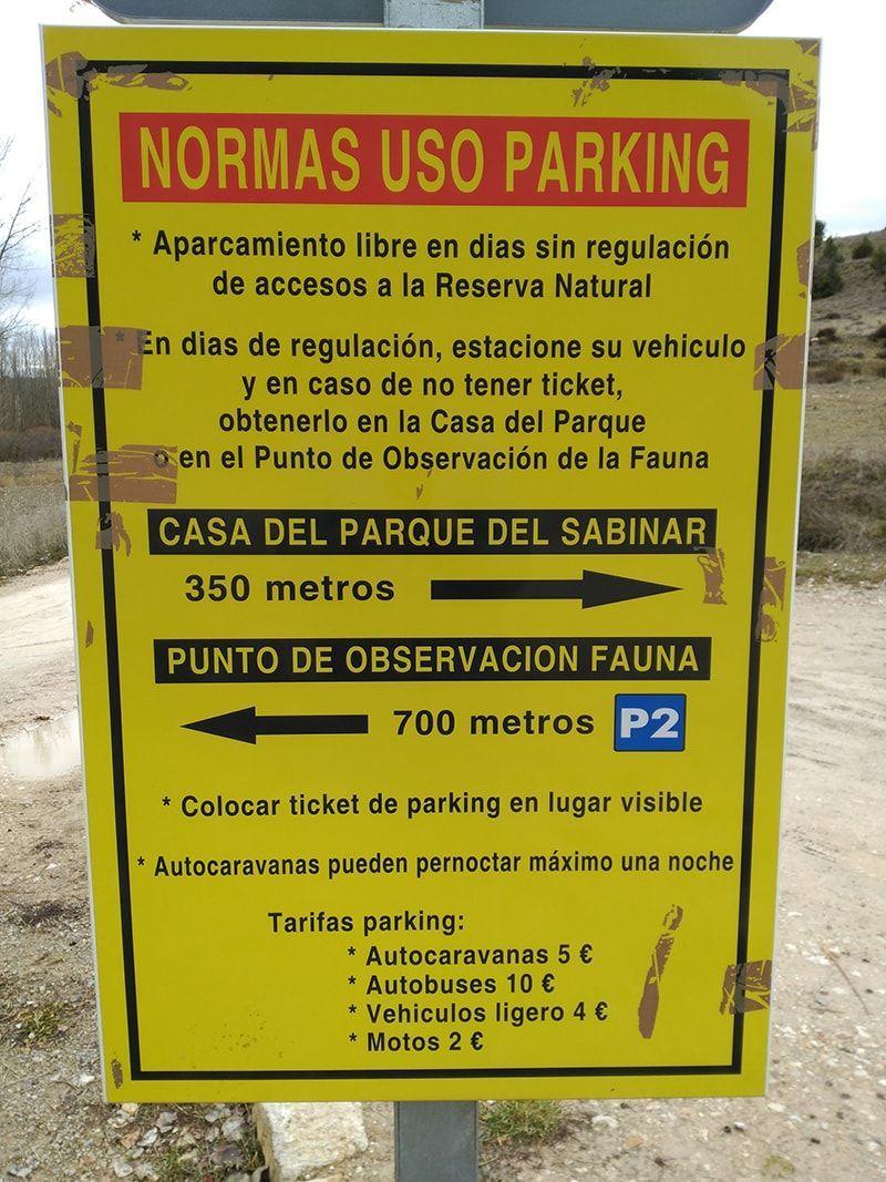 Normas de uso del parking