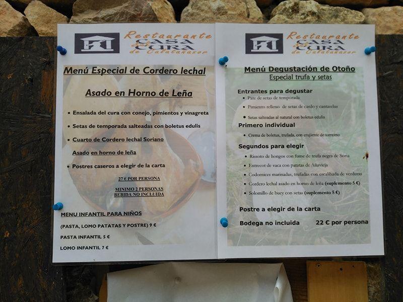 Comer en restaurantes de Calatañazor