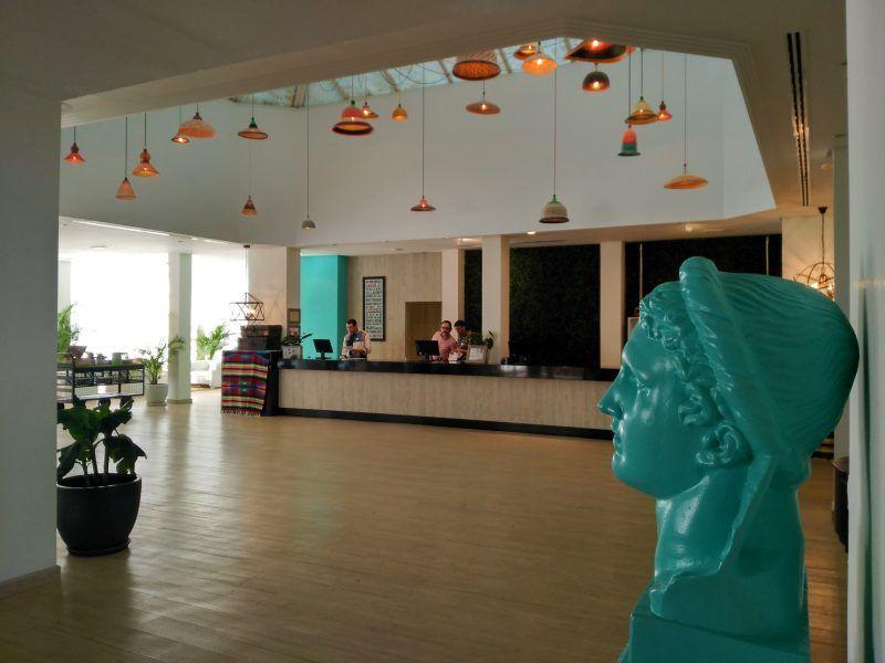 Recepción del hotel Sol Beach