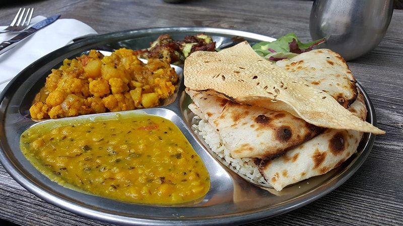 Comida vegetariana en India