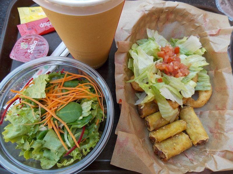 Comer en Disneyland comida vegetariana