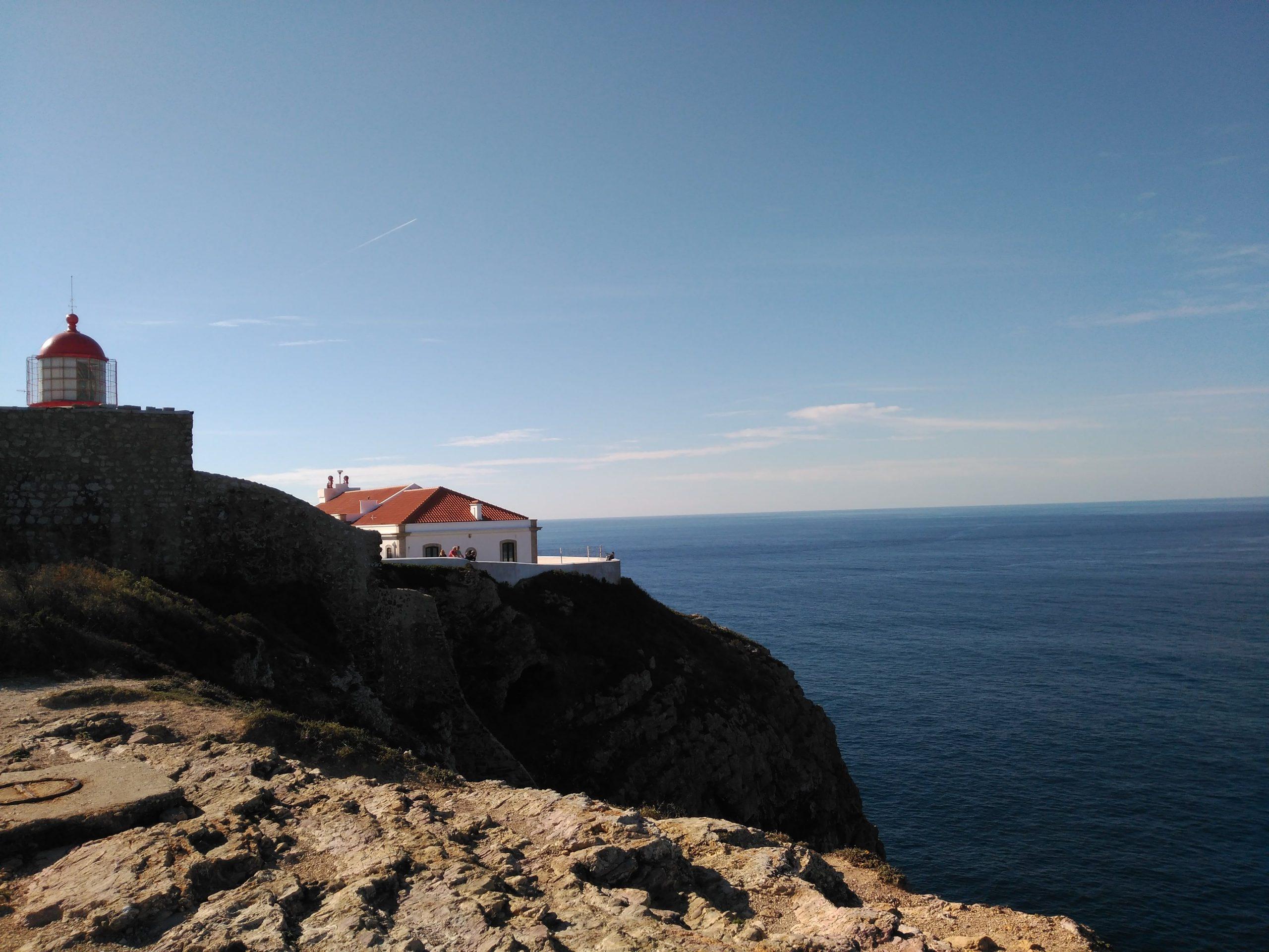 Cabo San Vicente en nuestra ruta en moto por Algarve