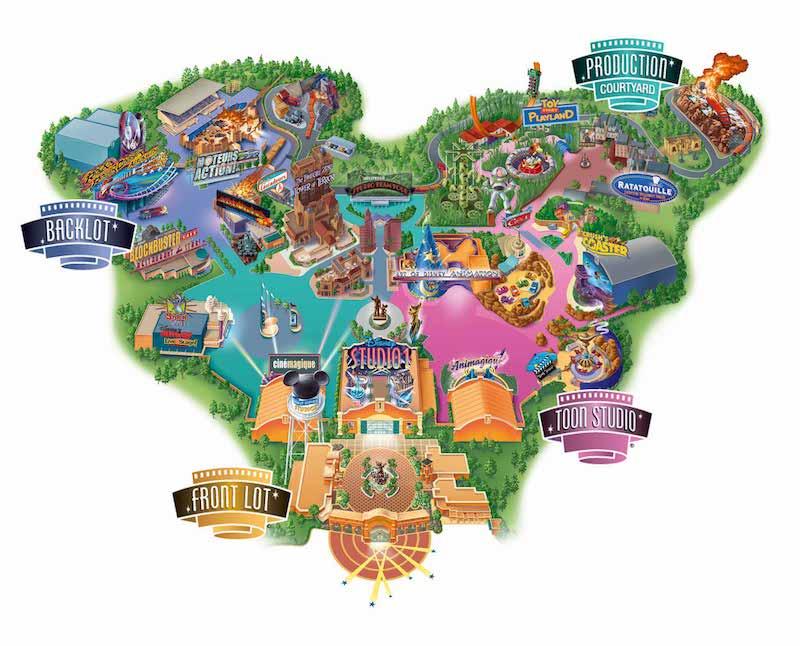 Consigue información de mapas para viajar a Disneyland
