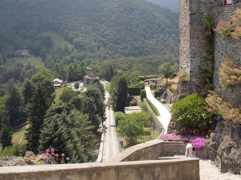 La abadía en el valle de Susa cerca de Torino