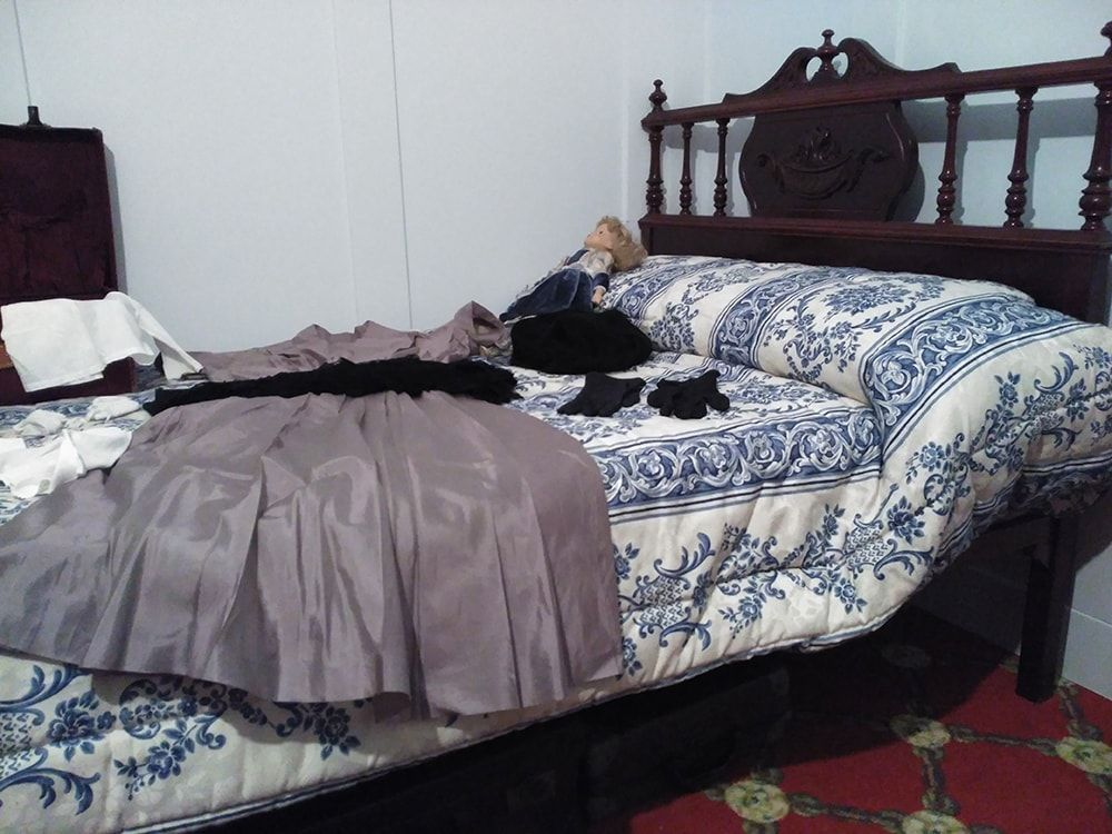 Reproducción cama del Titanic en Belorado