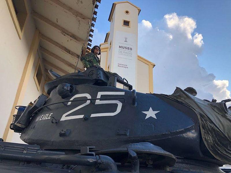 Carro de combate entrada Museo