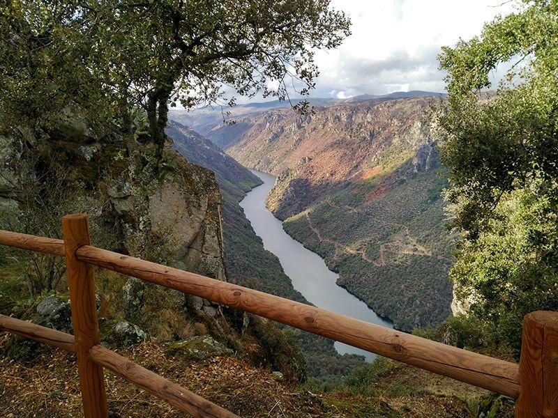 Vistas desde el mirador en los Arribes del Duero