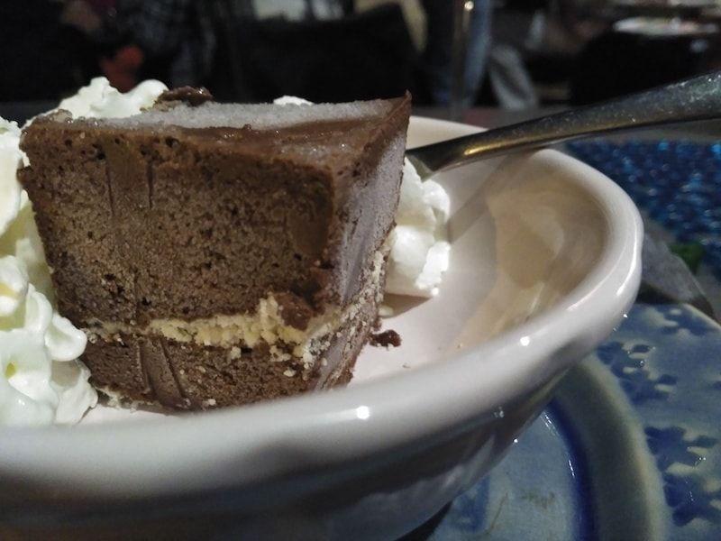 Tarta de chocolate en Casa de pasto da palameira