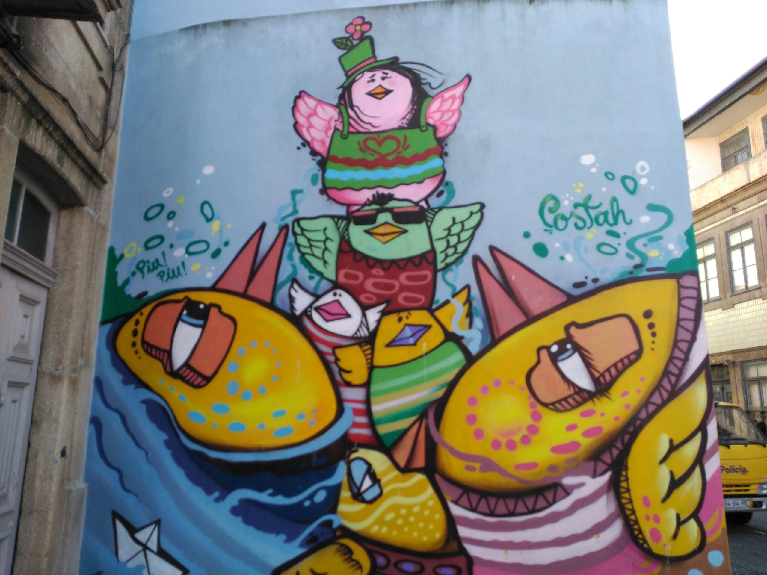 Grafitis en Porto