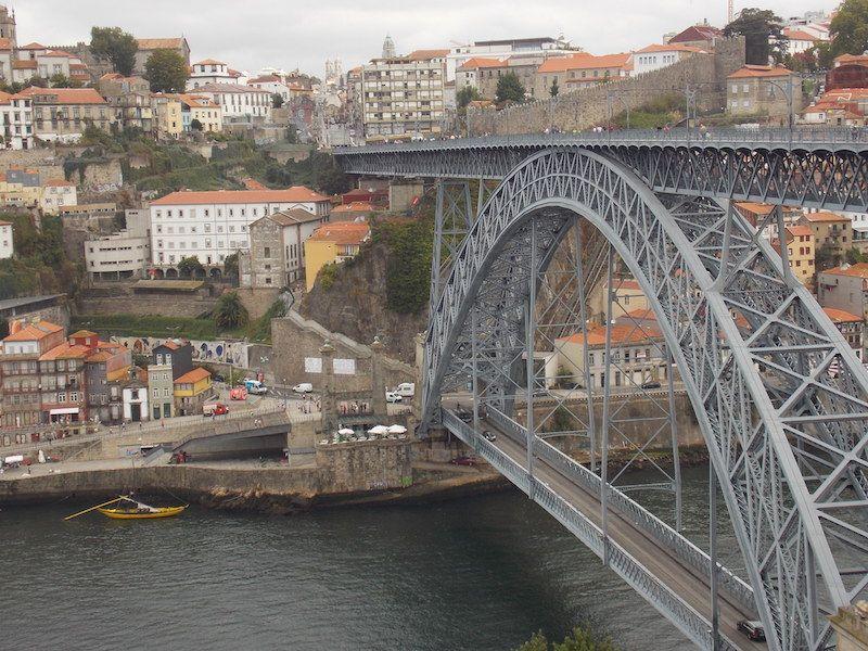 Cruzar los puentes en Porto