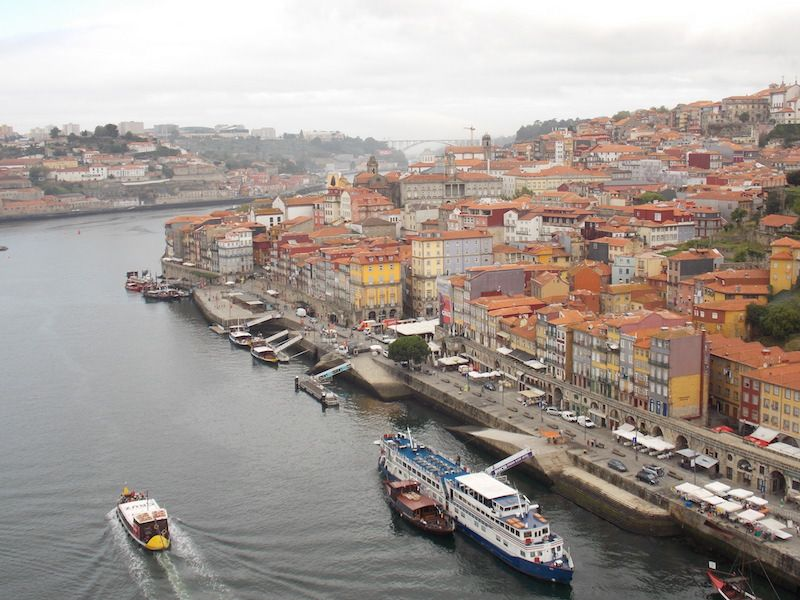 Cruzar el Duero en Porto