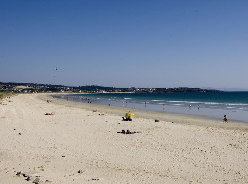 A Lanzada playa en la ría de Aurosa