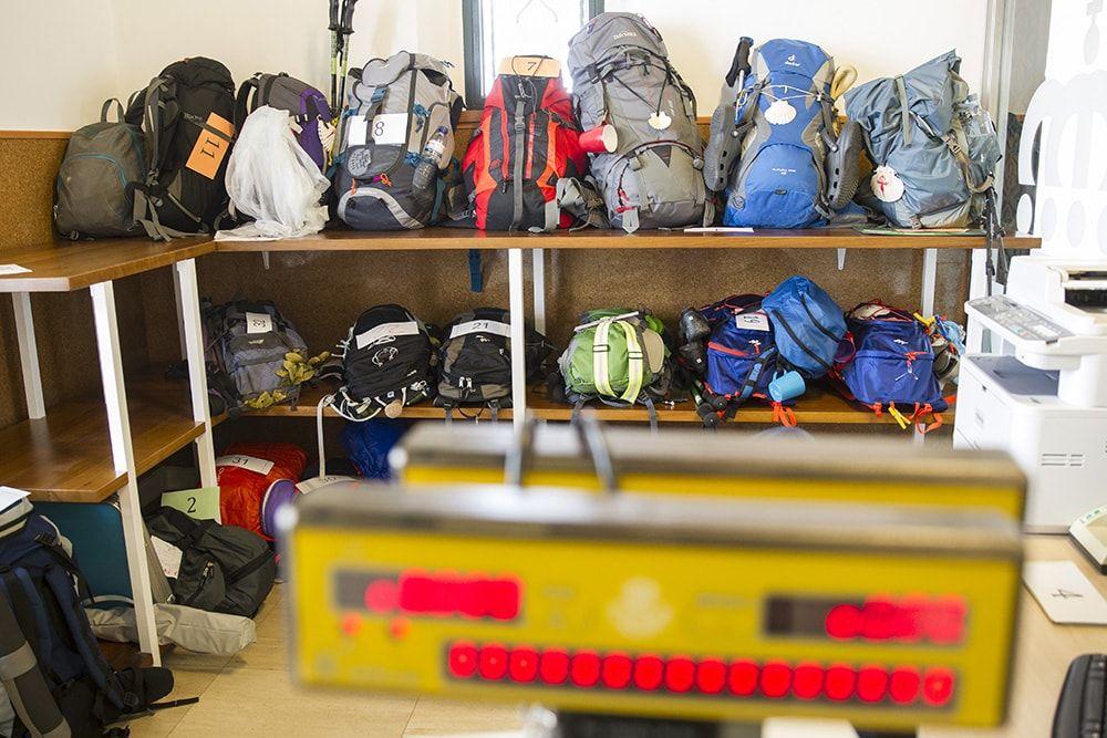 transporte de mochilas en el Camino de Santiago